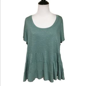NWT Torrid Super Soft Jade Short Sleeve Top 0